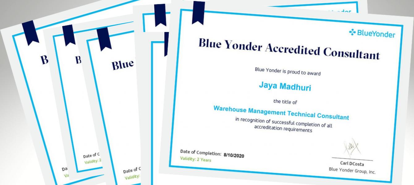 Blue Yonder cert